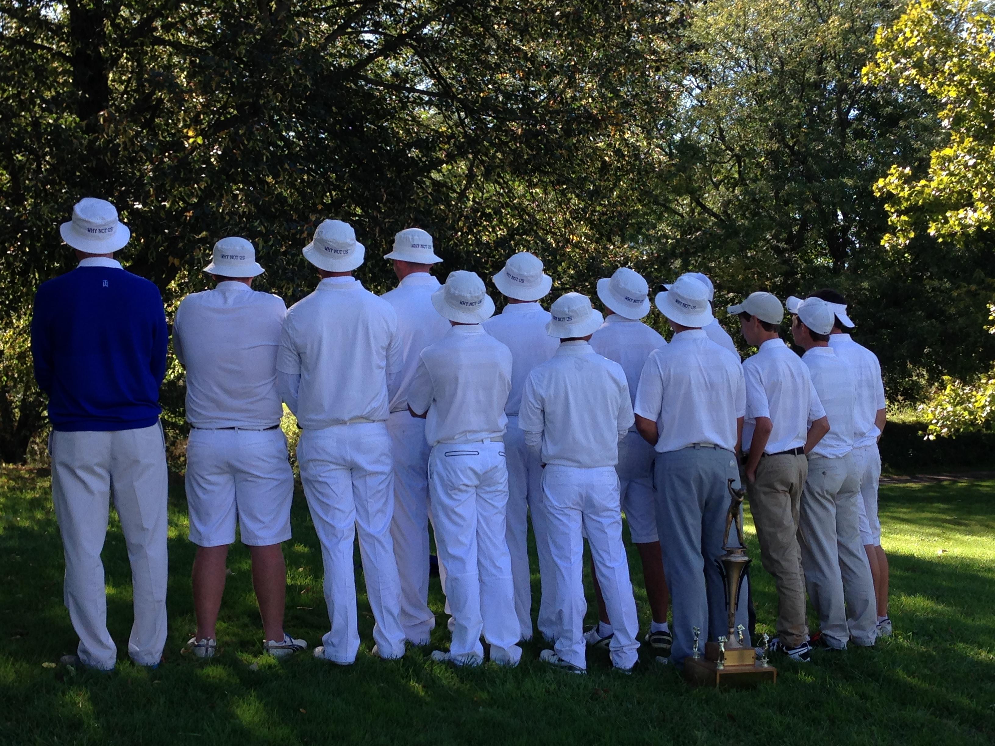 back of bucket hats on golf team